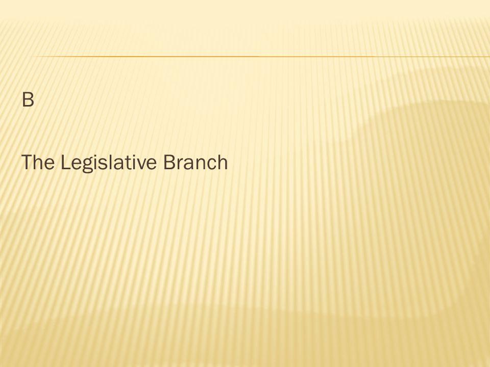 B The Legislative Branch