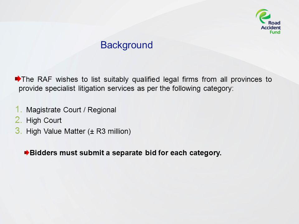 Mandatory Documents Standard Bidding Document (SBD) Tax Clearance Certificate Bid Conditions BEE certificate