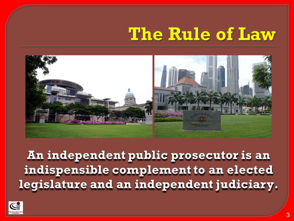  The Public Prosecutor must decide whether a case should be brought to the courts : -It is not physically possible to deal with every case in court; -The public interest does not demand that every infringement of the law has to be dealt with by a judge.