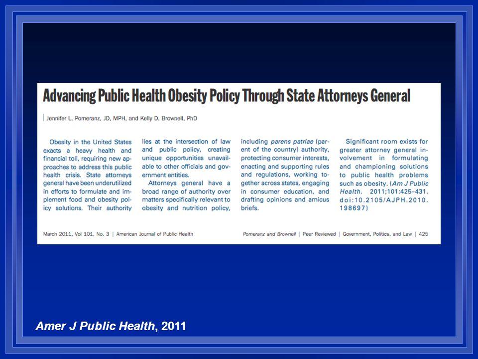 Amer J Public Health, 2011