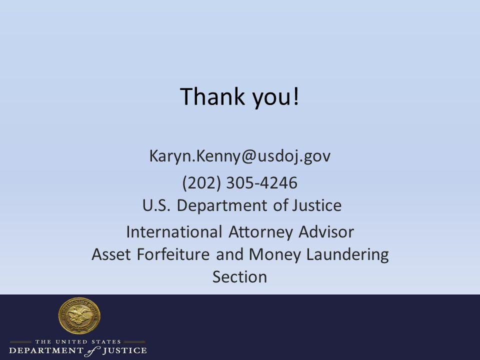 Thank you. Karyn.Kenny@usdoj.gov (202) 305-4246 U.S.