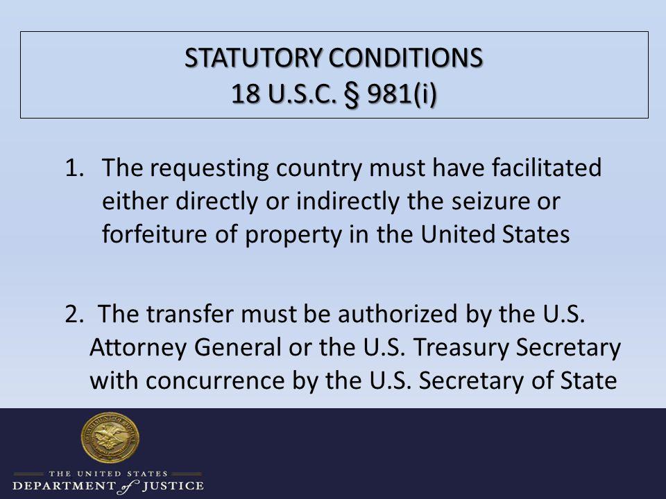 STATUTORY CONDITIONS 18 U.S.C.