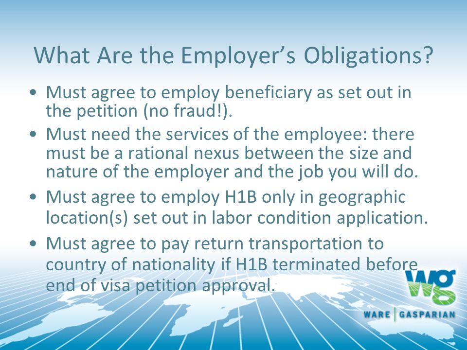 What Are the Employer's Obligations.