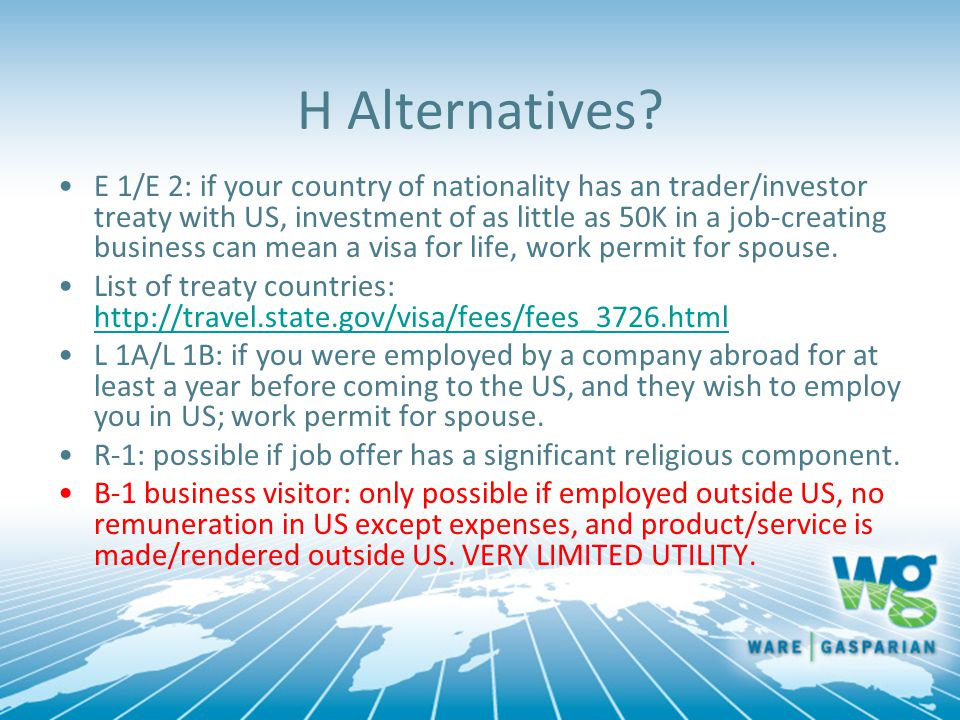 H Alternatives.