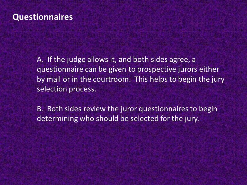 Questionnaires A.