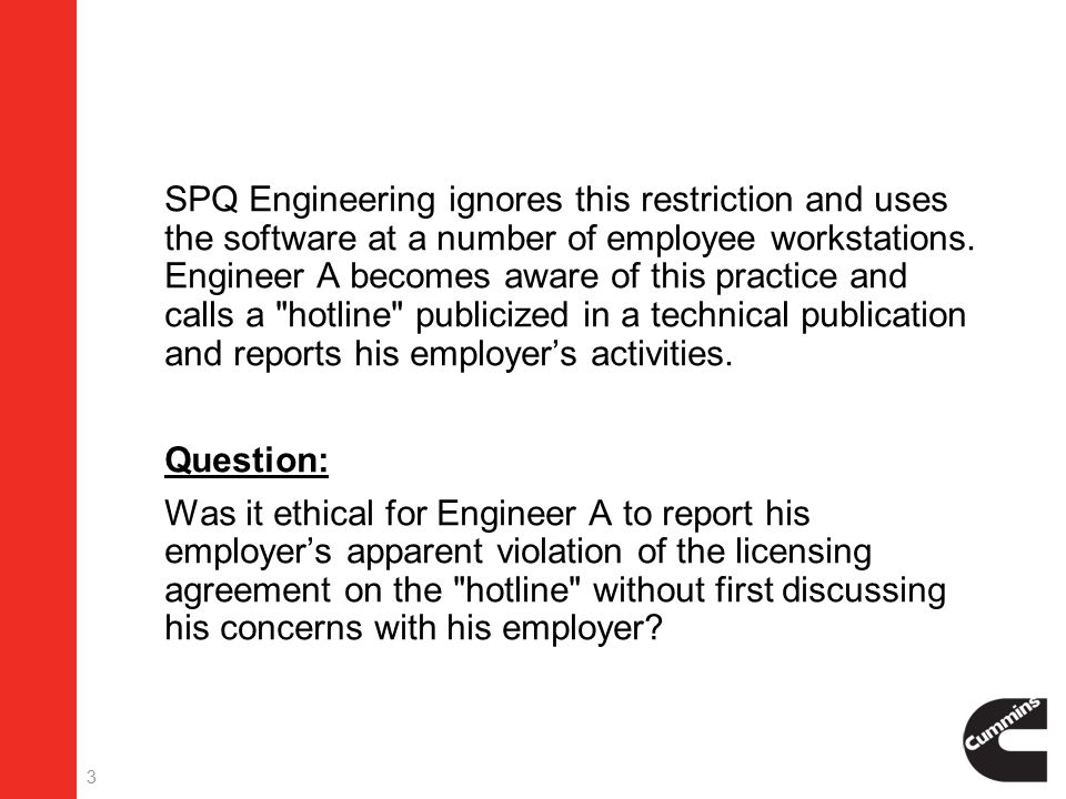 3  SPQ Engineering ignores this restriction and uses the software at a number of employee workstations.