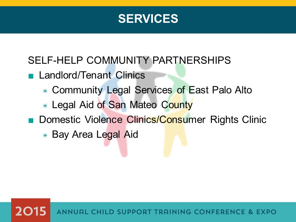 SELF-HELP COMMUNITY PARTNERSHIPS ■Landlord/Tenant Clinics ✷ Community Legal Services of East Palo Alto ✷ Legal Aid of San Mateo County ■Domestic Viole
