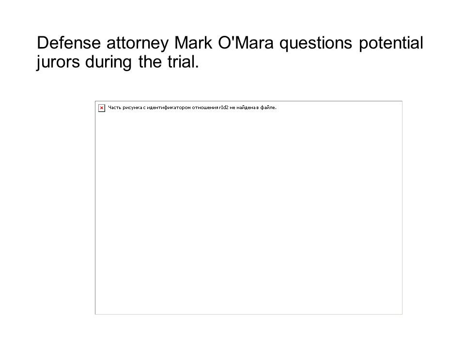 Defense attorney Mark O'Mara questions potential jurors during the trial.