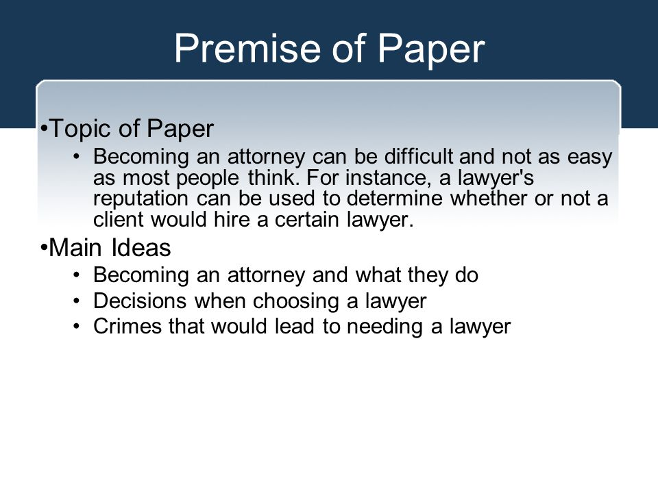 Premise of Paper Court cases - O.J.Simpson case - F.