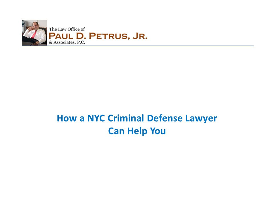 Fights Against Different Issues A criminal defense attorney in NYC will not only understand how to fight against substantive issues (guilty or not guilty), but also procedural issues as well (e.g., did the police have the right to search the defendant?).