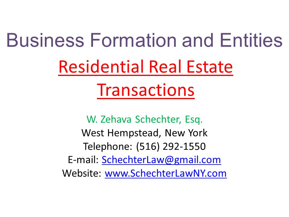 Business Formation and Entities Sole Proprietor Partnership LLC Corporation ( S or C )