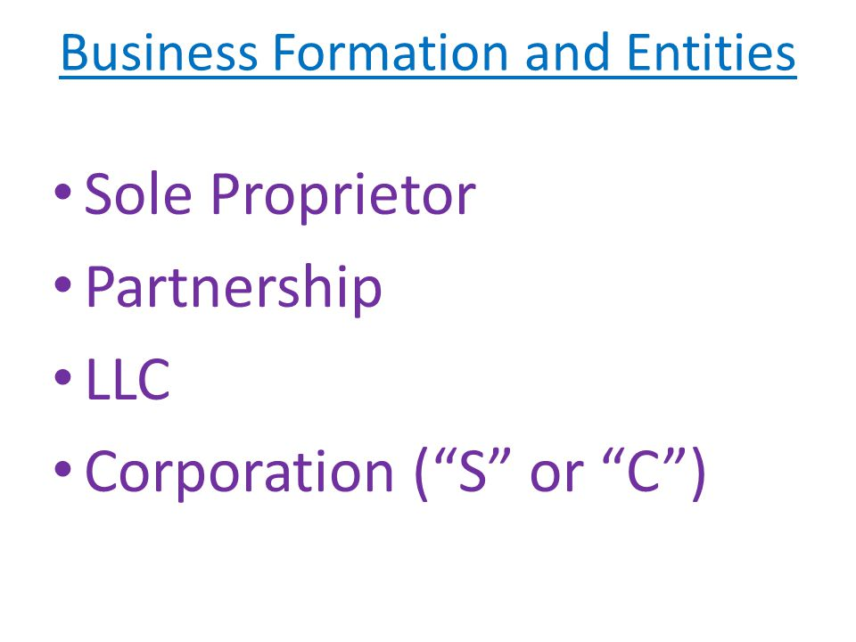 Sole Proprietorship Advantages Simplest form of organization You, as an individual, establish the business under your own name or a trade name.