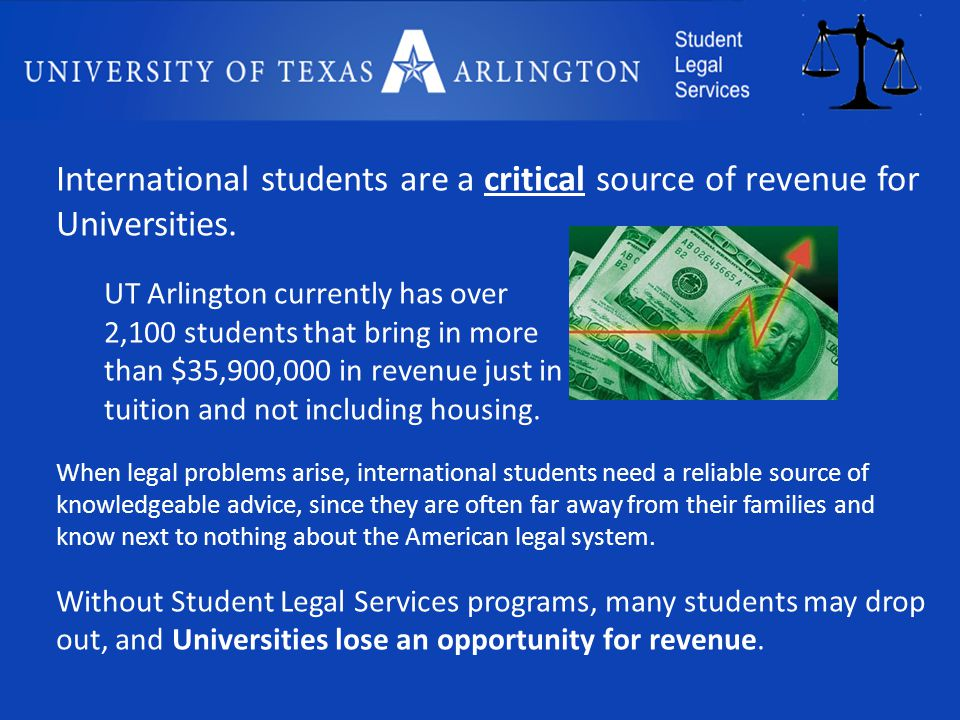International students are a critical source of revenue for Universities.