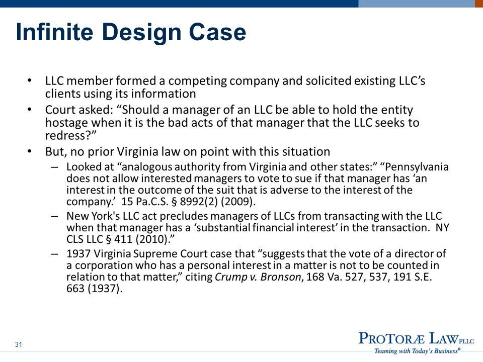 Infinite Design Case 31