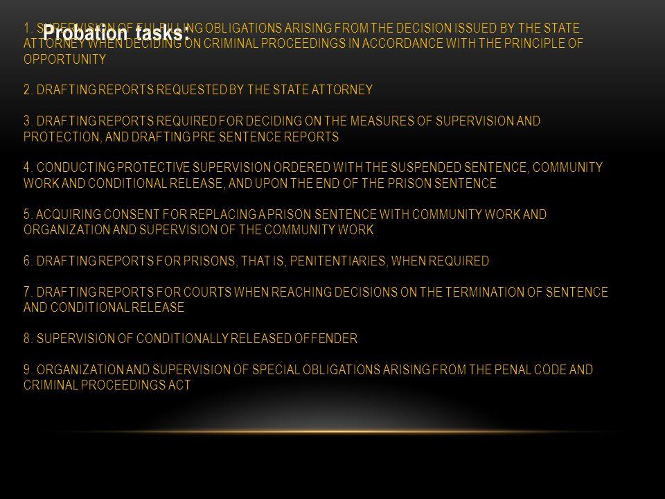 Probation tasks : 1.