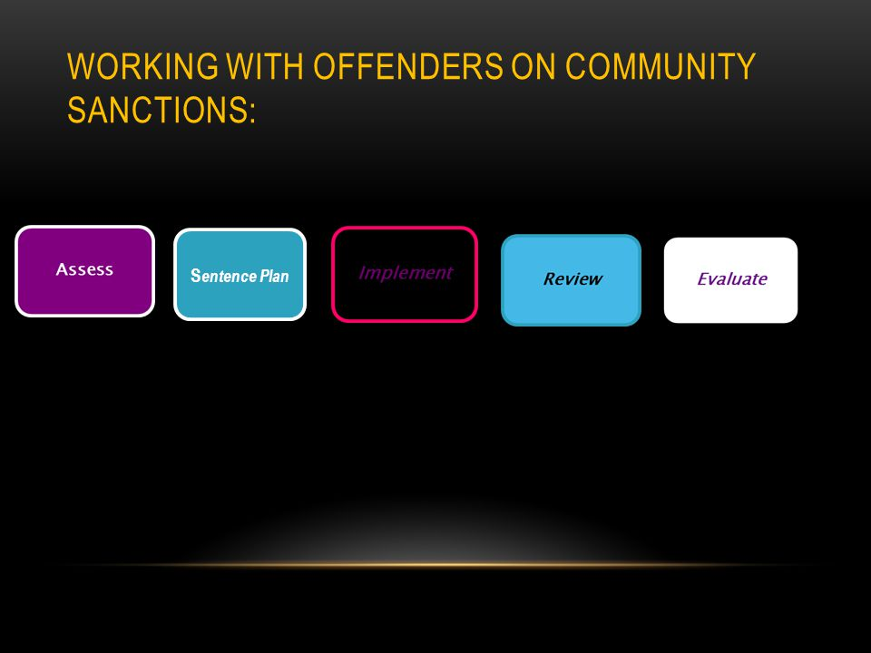 WORKING WITH OFFENDERS ON COMMUNITY SANCTIONS: S entence Plan