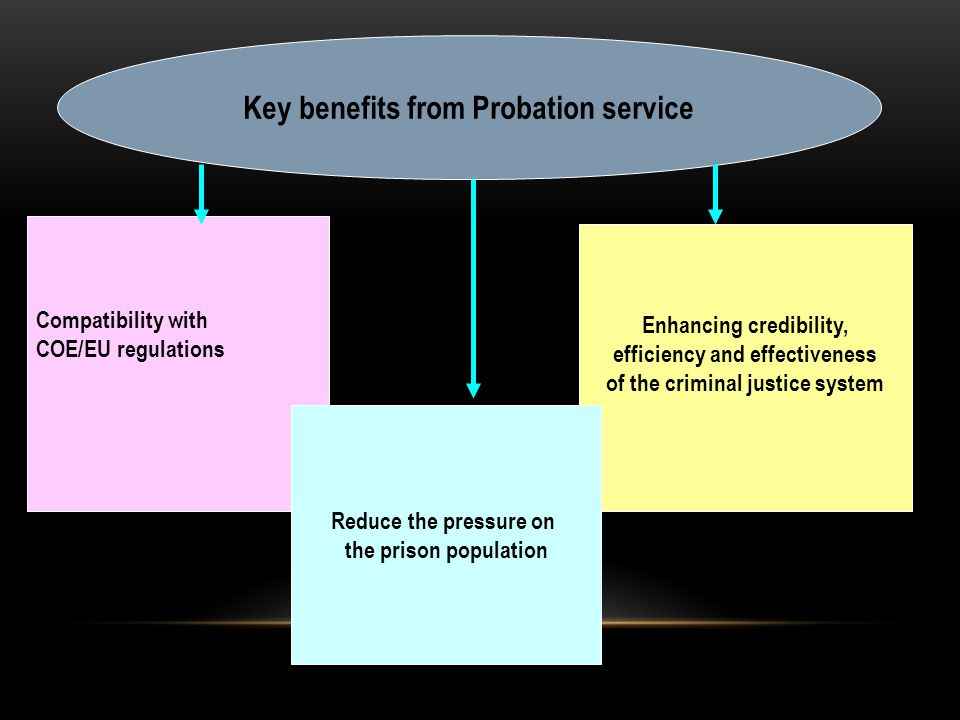 Some more probation tasks : Assessment of risk/needs for offenders (special tool was developed!) Development of the individual treatment program