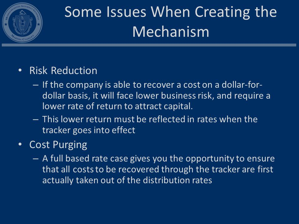 Recommended TIRF Conditions Pre-approved plan Metrics Rate Impact Cap Incremental costs only