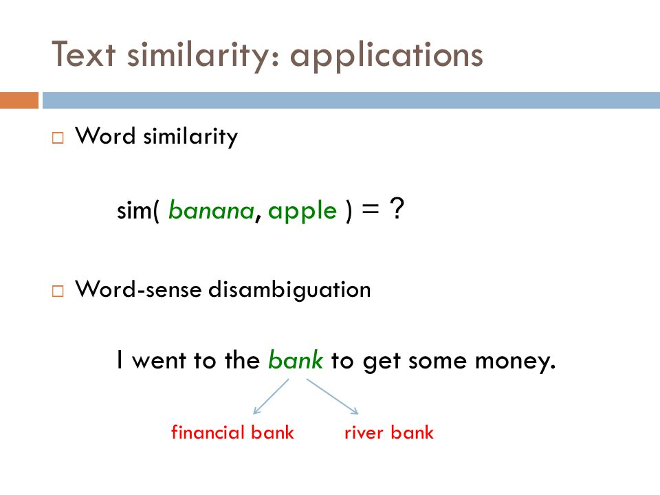 Text similarity: application  Automatic grader Question: what is a variable.