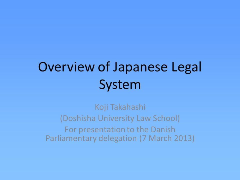 Importation of foreign law Edo era: over 200 years of national isolation.