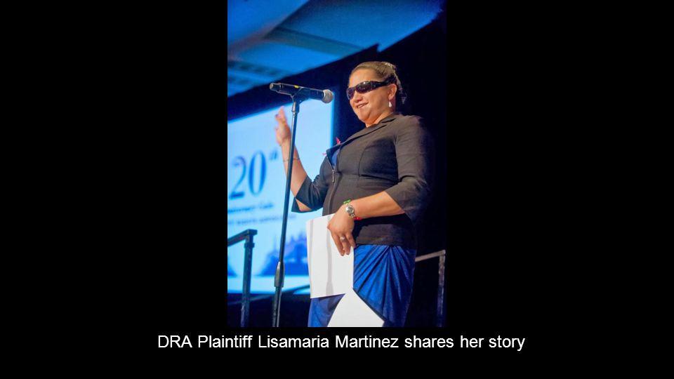 DRA Plaintiff Lisamaria Martinez shares her story
