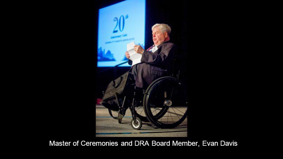 Master of Ceremonies and DRA Board Member, Evan Davis