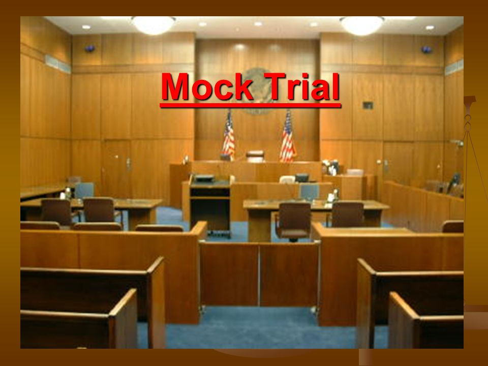 Defense Now we switch from Prosecution to Defense 2.