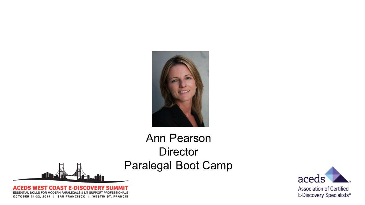 Ann Pearson Director Paralegal Boot Camp