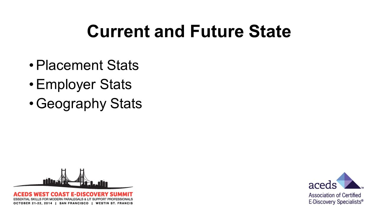 Current and Future State Placement Stats Employer Stats Geography Stats