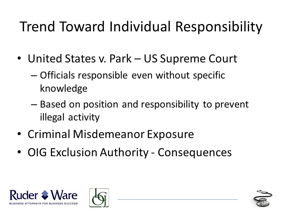 Trend Toward Individual Responsibility United States v.