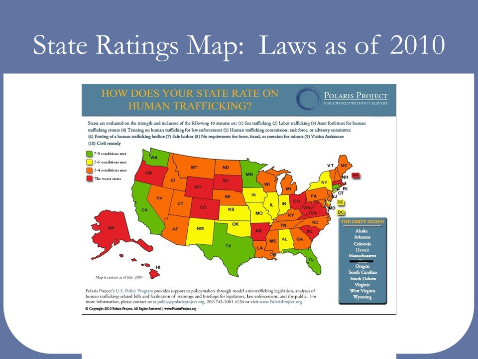 State Ratings Map: Laws as of 2010
