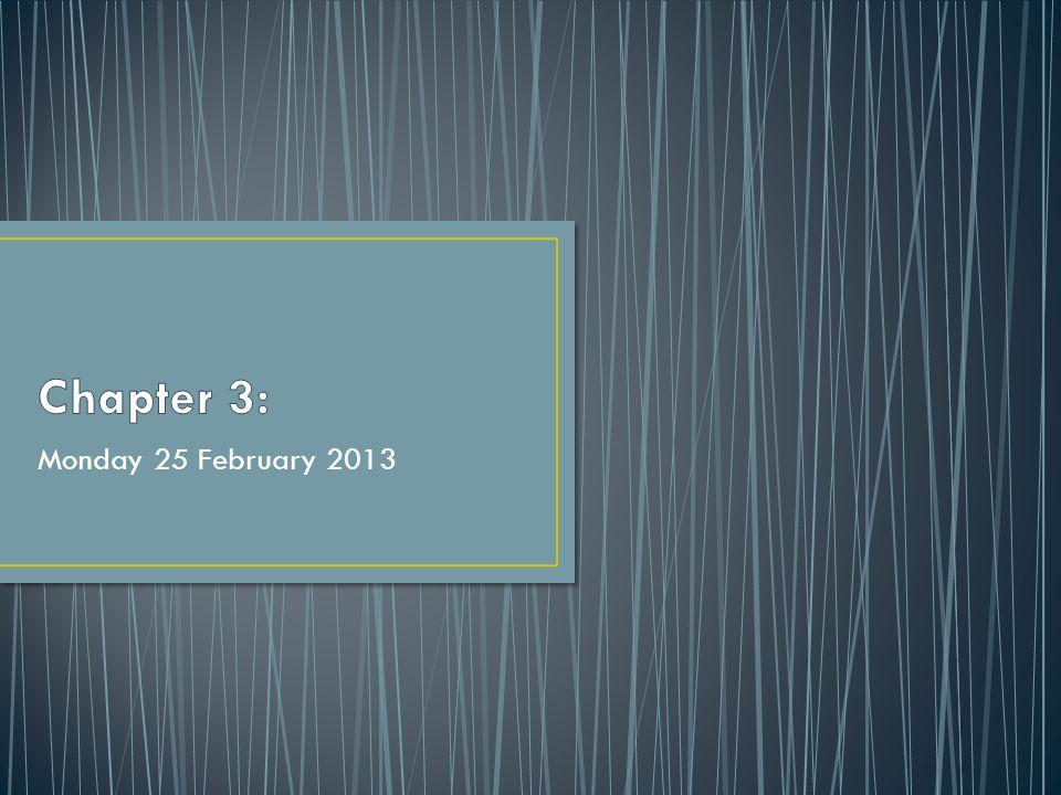 Monday 25 February 2013