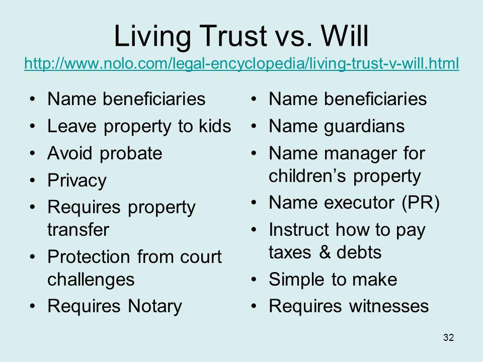 Living Trust vs.