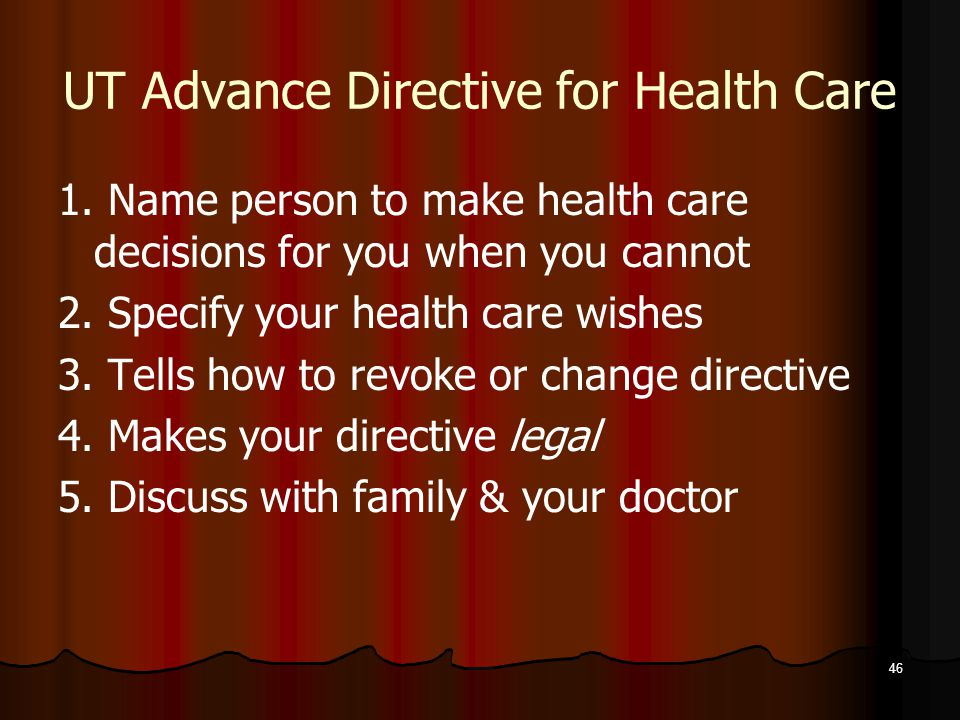 46 UT Advance Directive for Health Care 1.