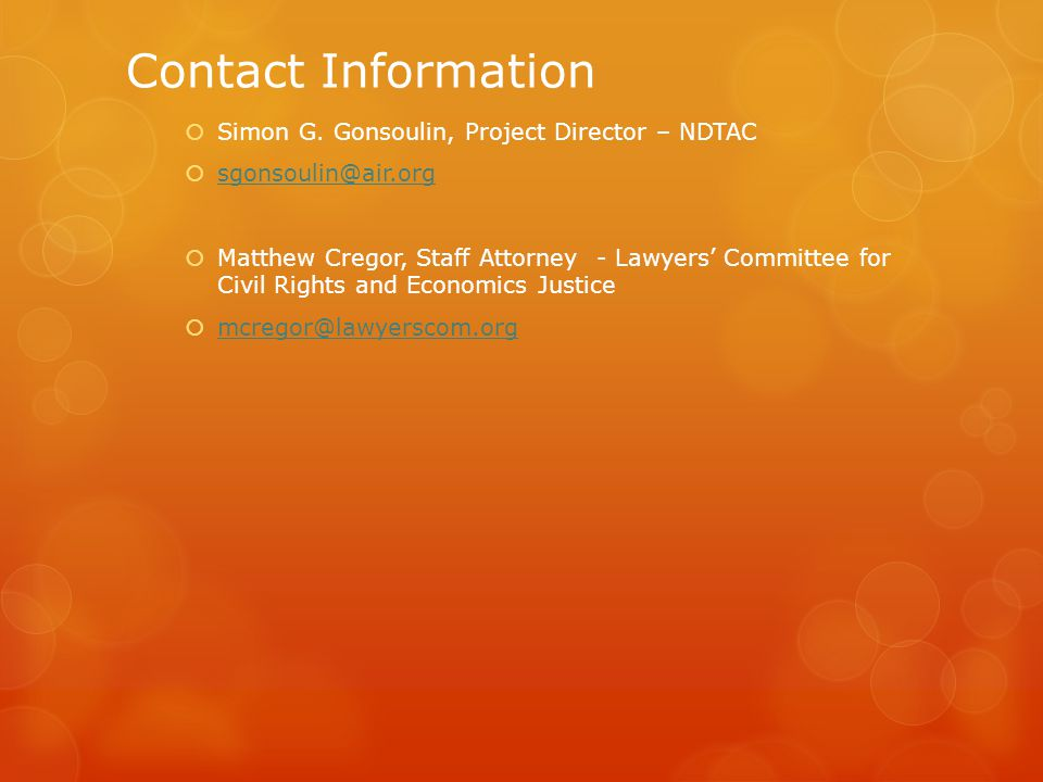 Contact Information  Simon G.