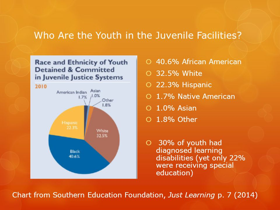 Who Are the Youth in the Juvenile Facilities.