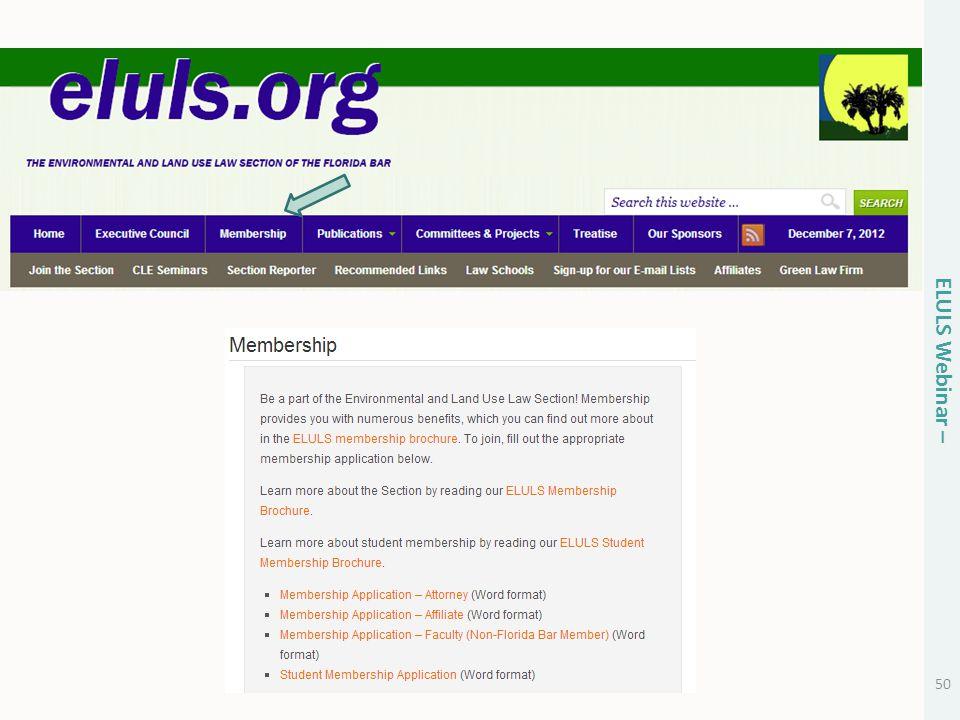 50 ELULS Webinar –