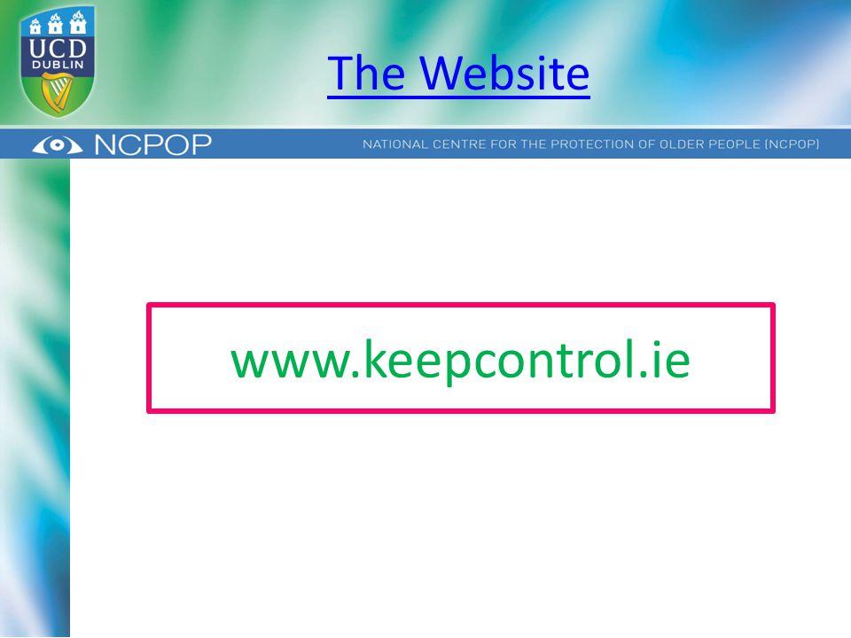 The Website www.keepcontrol.ie