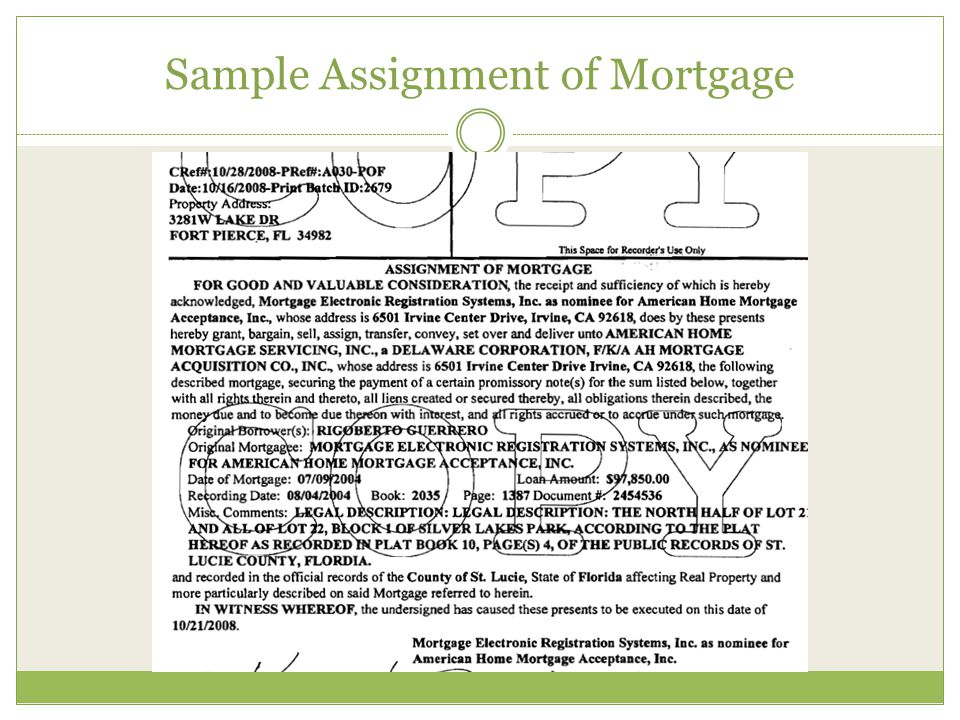 The Paperwork in Securitization Process Source: Oversight Panel Oversight Report, Examining the Consequences of Mortgage Irregularities for Financial Stability and Foreclosure Miigation Assignments