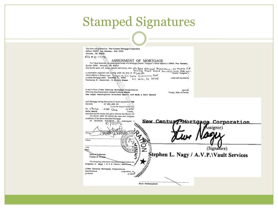 Stamped Signatures
