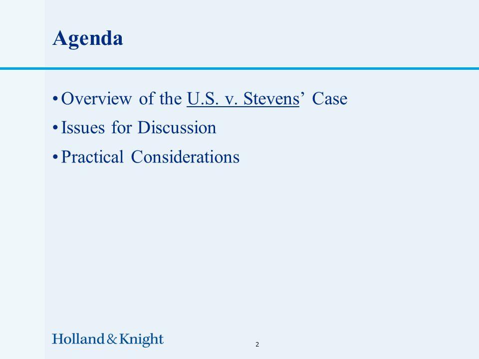 Overview of the U.S. v. Stevens' Case 3