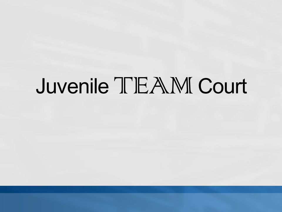 Juvenile TEAM Court