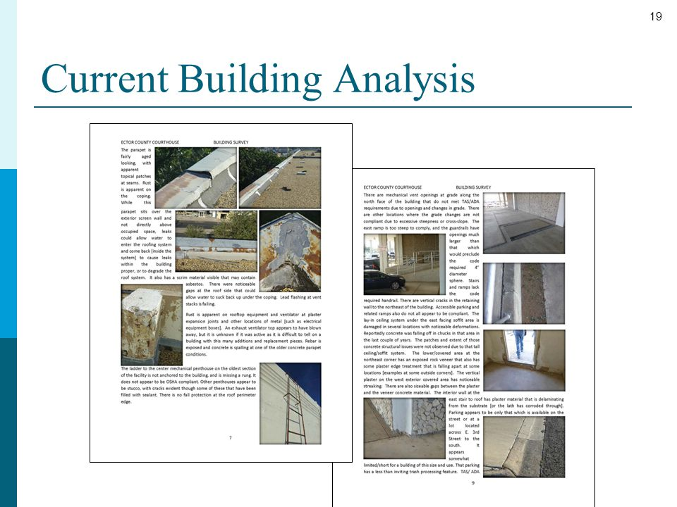 19 Current Building Analysis