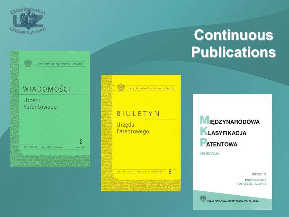 Continuous Publications