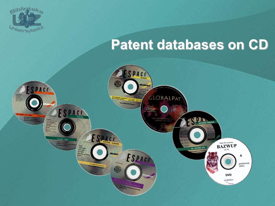 Patent databases on CD