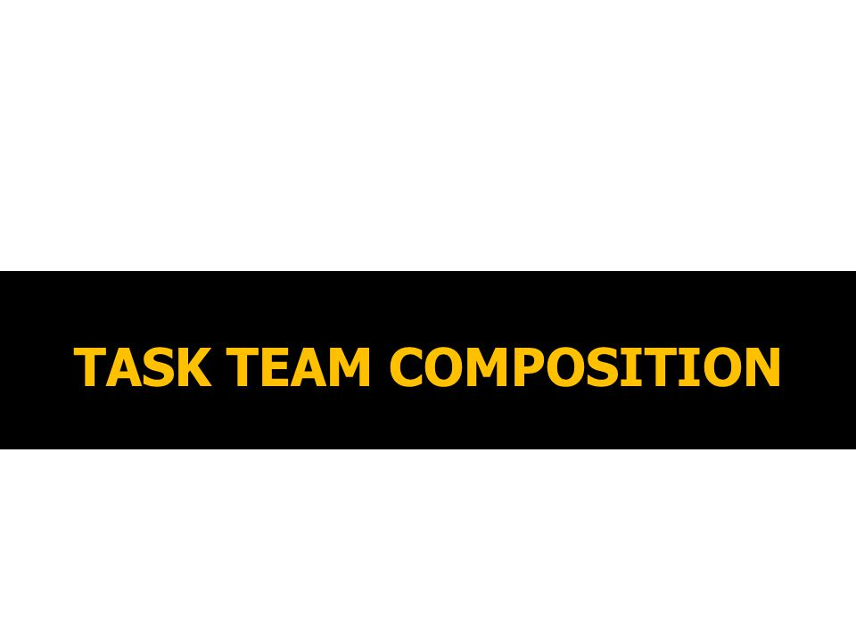TASK TEAM COMPOSITION
