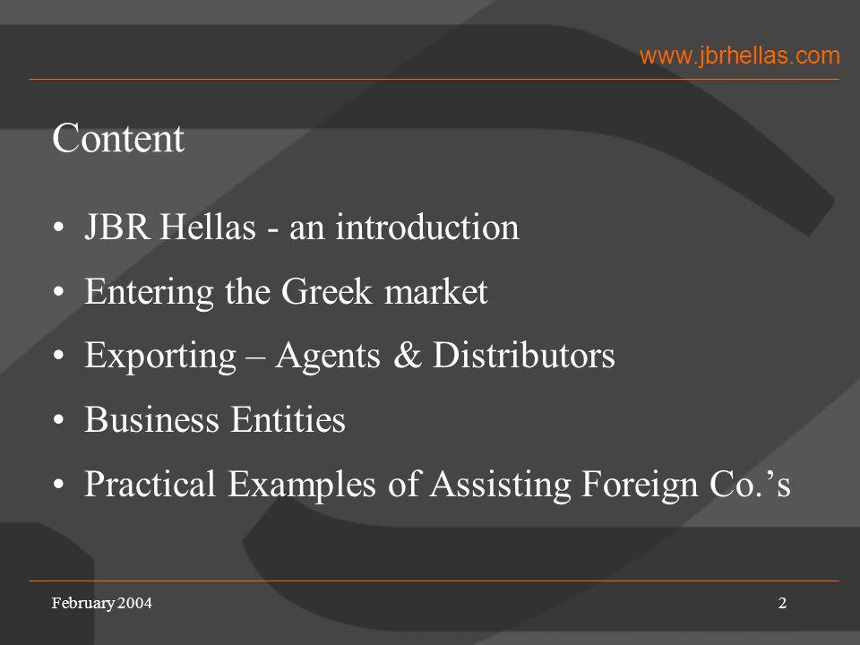 www.jbrhellas.com JBR Hellas - Introduction