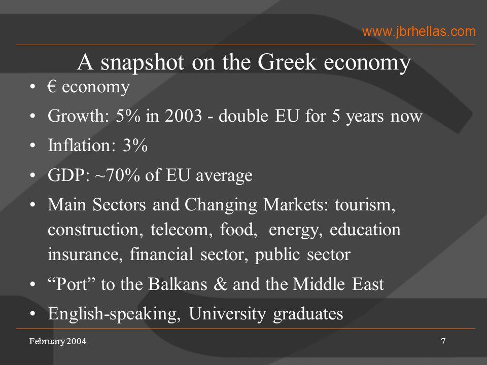 www.jbrhellas.com February 20048 Entering the Greek Market Determining the goals Market scan Partner search Meeting program Establishing the relationship