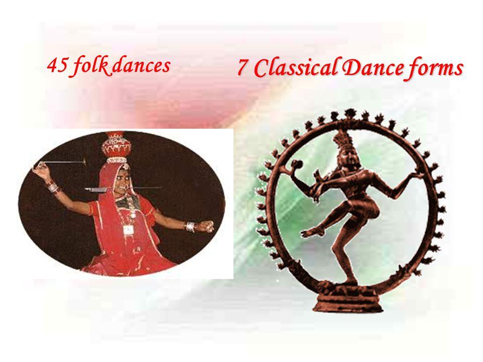 45 folk dances 7 Classical Dance forms