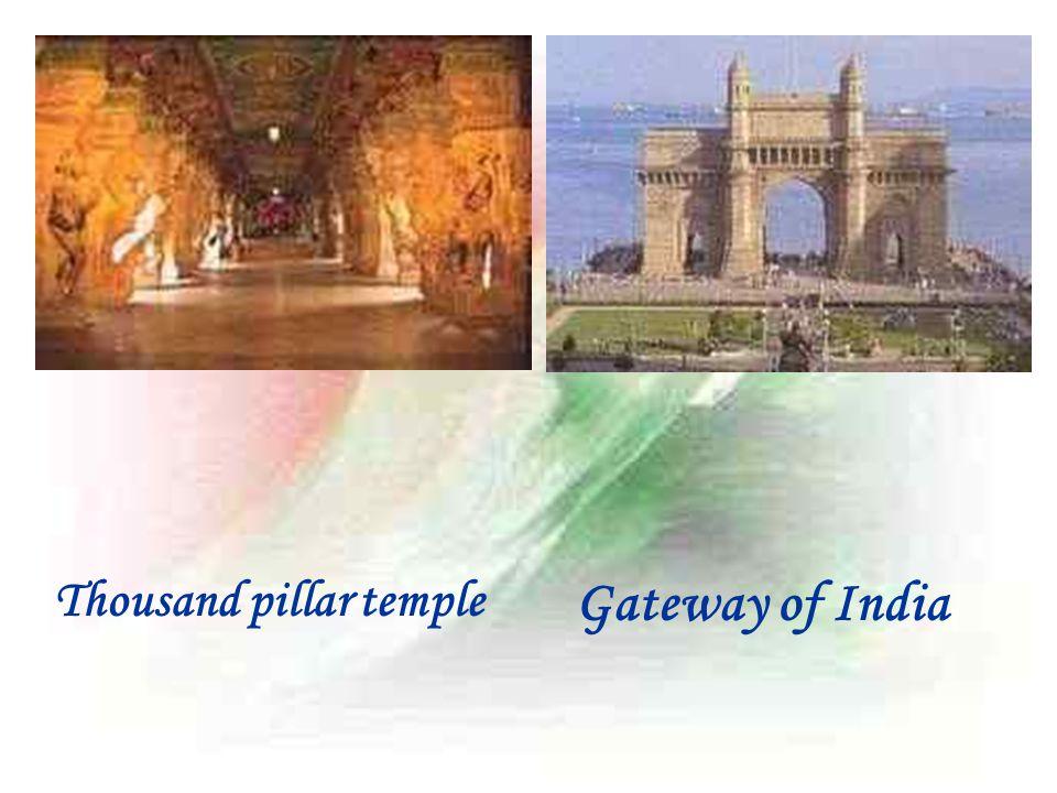 Thousand pillar temple Gateway of India